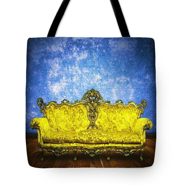 Victorian Sofa In Retro Room Tote Bag by Setsiri Silapasuwanchai