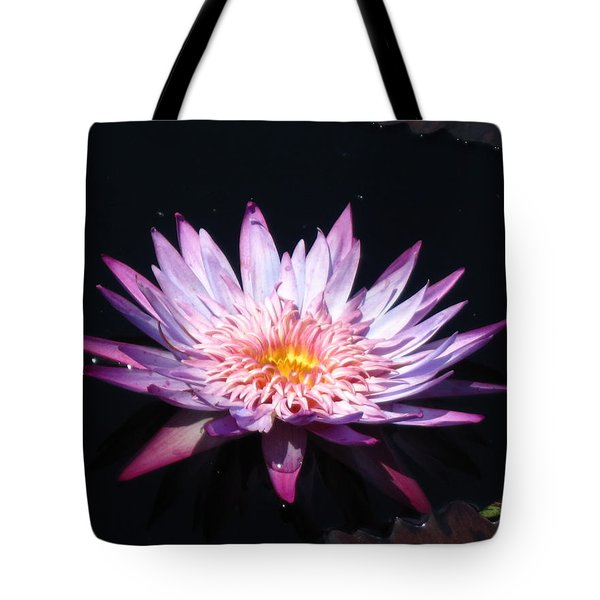 Tote Bag featuring the photograph  Pink Waterlily by Alfred Ng