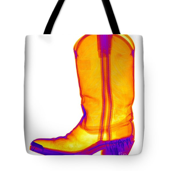 X-ray Of A Cowboy Boot Tote Bag by Ted Kinsman