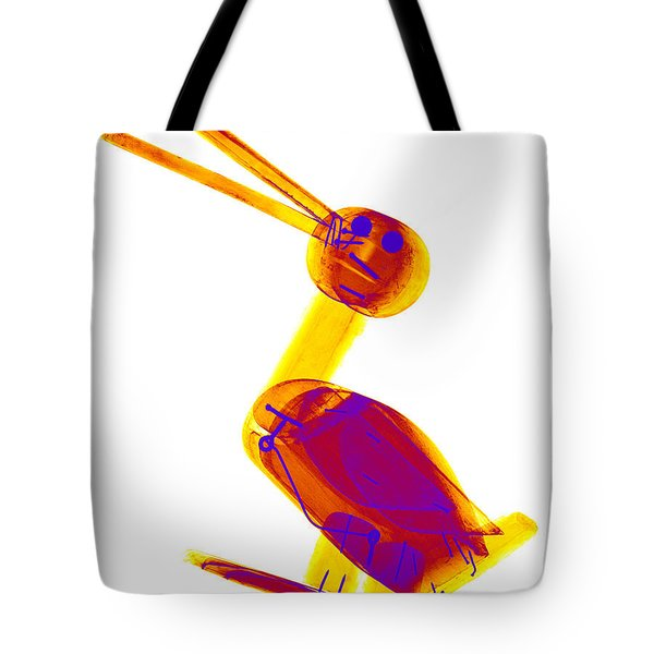 X-ray Of A Wooden Duck Toy Tote Bag by Ted Kinsman