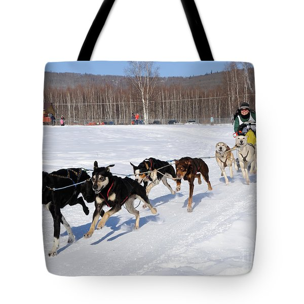 2010 Limited North American Sled Dog Race Tote Bag by Gary Whitton