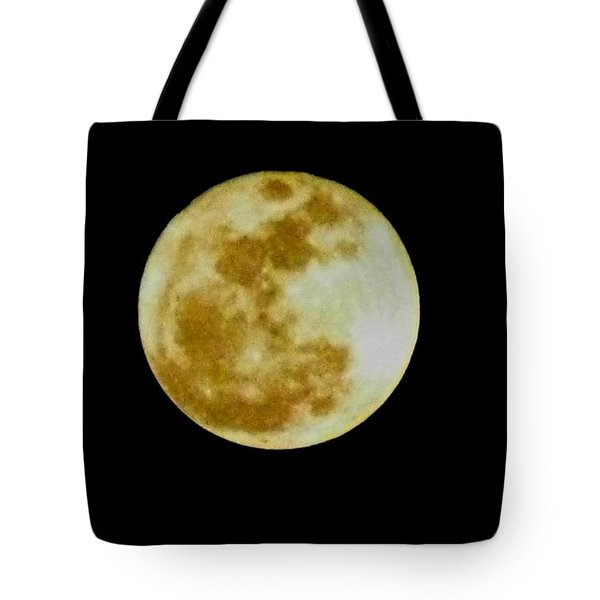 Tote Bag featuring the photograph 2011 Full Moon by Maria Urso