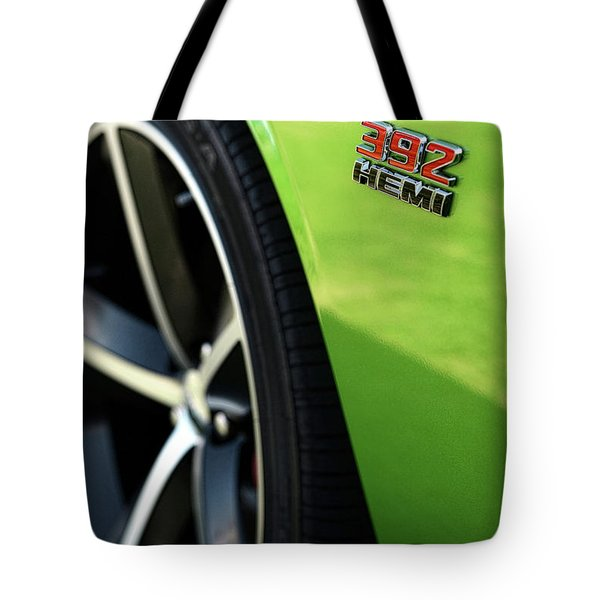 2012 Dodge Challenger 392 Hemi - Green With Envy Tote Bag by Gordon Dean II