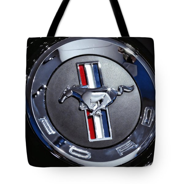 2012 Ford Mustang Trunk Emblem Tote Bag