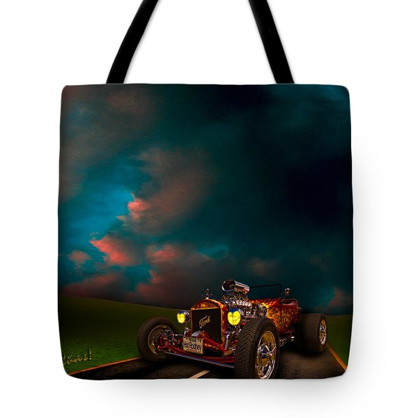 23 Model-t Ford Roadster Hot Rod Tote Bag