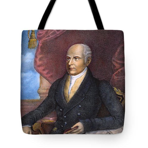 John Quincy Adams Tote Bag by Granger