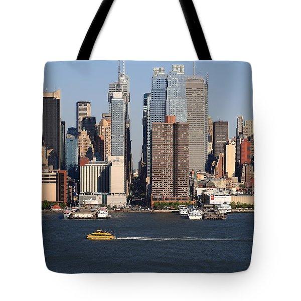 New York City Skyline Tote Bag by Frank Romeo