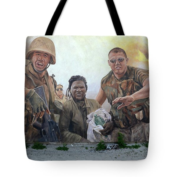 29 Palms Mural 2 Tote Bag by Bob Christopher