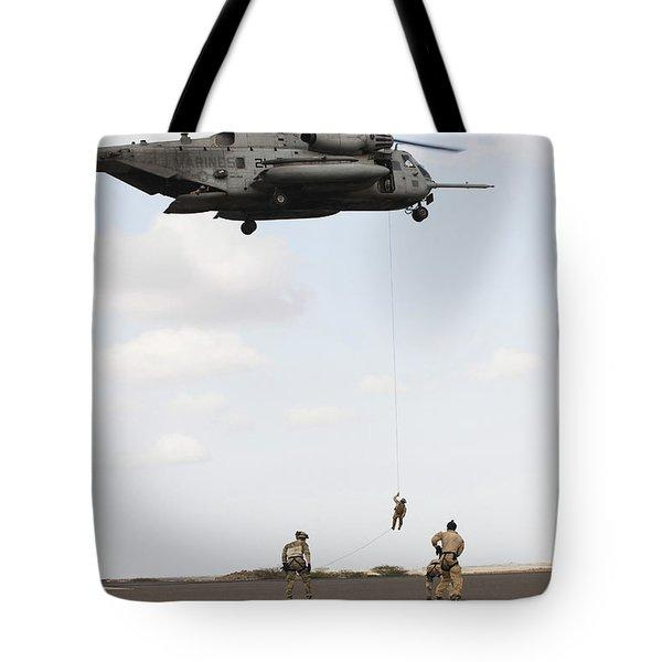 Air Force Pararescuemen Conduct Tote Bag by Stocktrek Images