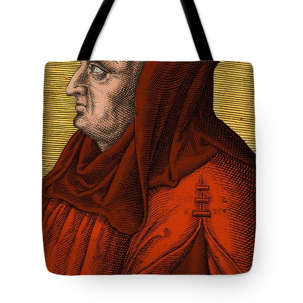 Albertus Magnus, Medieval Philosopher Tote Bag by Science Source