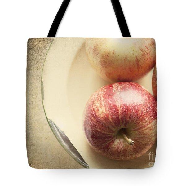 3 Apples Tote Bag