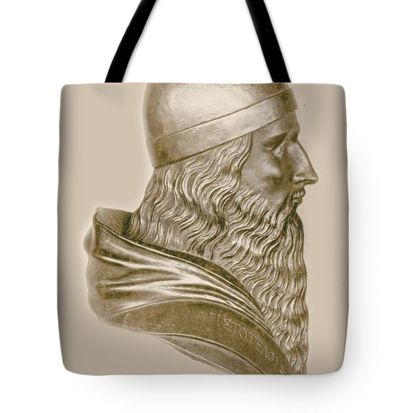 Aristotle, Ancient Greek Philosopher Tote Bag by Science Source