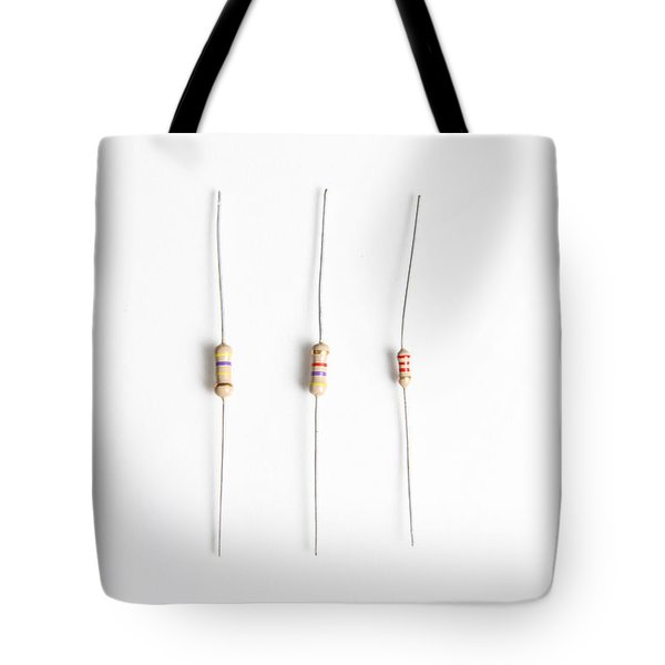 Carbon Film Resistors Tote Bag by Photo Researchers, Inc.