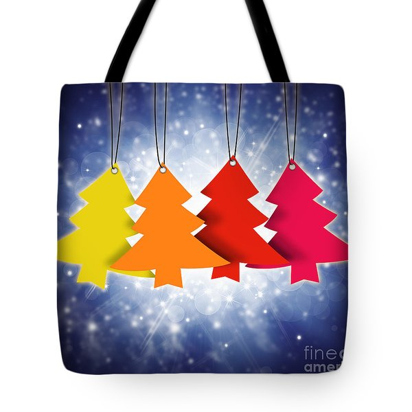 Christmas Card  Tote Bag by Setsiri Silapasuwanchai
