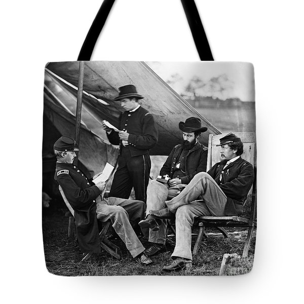 Civil War: Union Officers Tote Bag by Granger