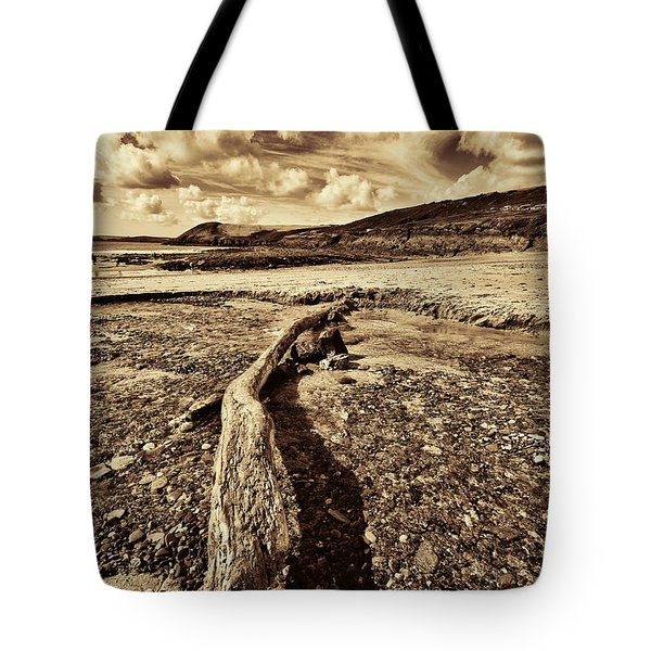 Tote Bag featuring the photograph Driftwood by Steve Purnell