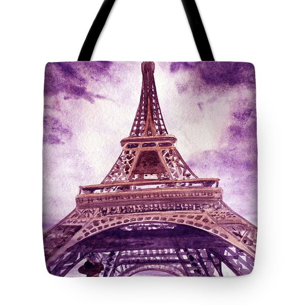Eiffel Tower Paris Tote Bag by Irina Sztukowski