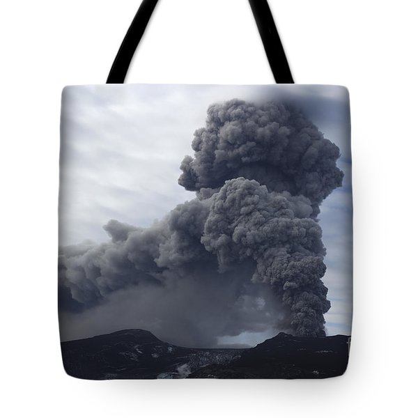 Eyjafjallajökull Eruption, Iceland Tote Bag by Martin Rietze