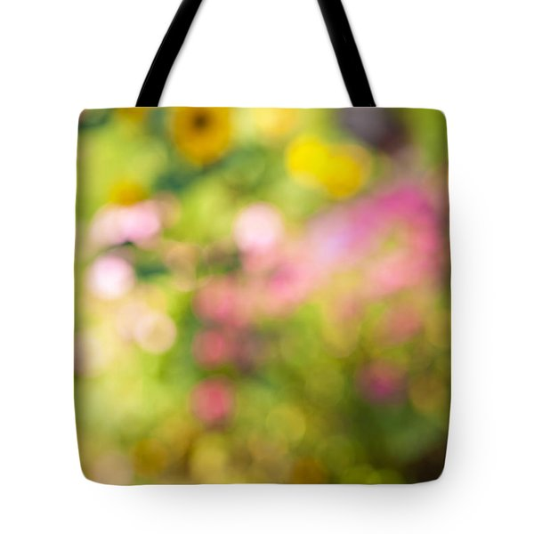 Flower Garden In Sunshine Tote Bag