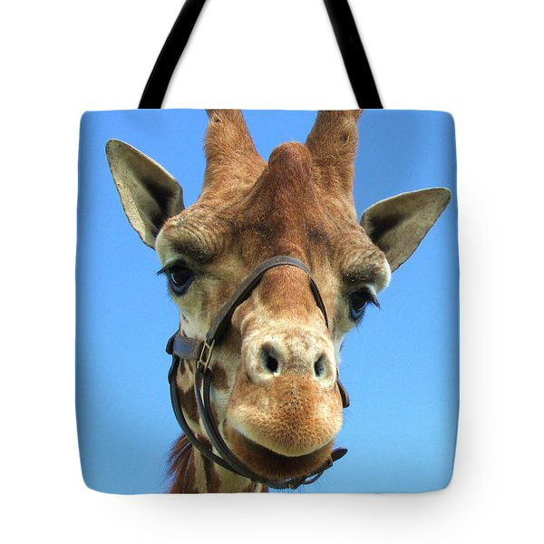 Giraffe Close Up  Tote Bag
