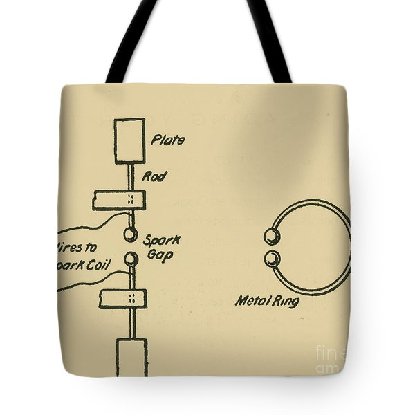 Illustration Of Hertzs Oscillator Tote Bag by Science Source