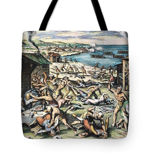 Jamestown: Massacre, 1622 Tote Bag by Granger