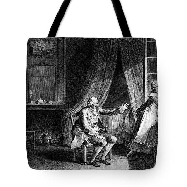 Jean Jacques Rousseau Tote Bag by Granger
