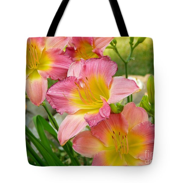 3 Lillies Tote Bag