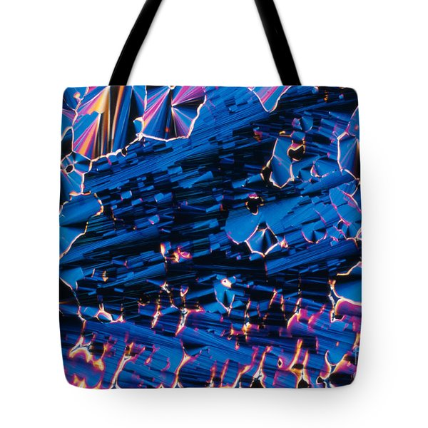 Liquid Crystalline Dna Tote Bag by Michael W. Davidson