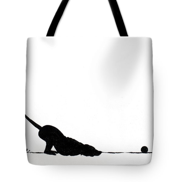 Little Dogs Doing Tricks On Little Canvas Tote Bag by Cindy D Chinn