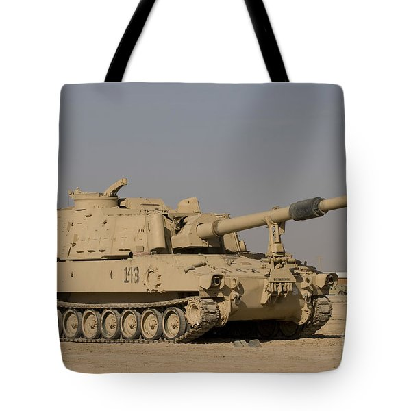 M109 Paladin, A Self-propelled 155mm Tote Bag by Terry Moore