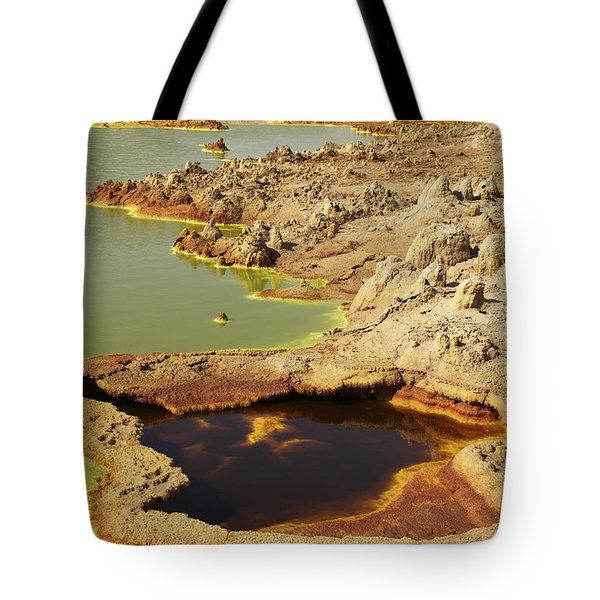 Potassium Salt Deposits, Dallol Tote Bag by Richard Roscoe