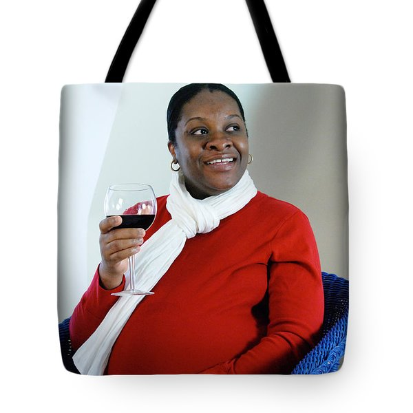Pregnant Woman Drinking Wine Tote Bag by Photo Researchers