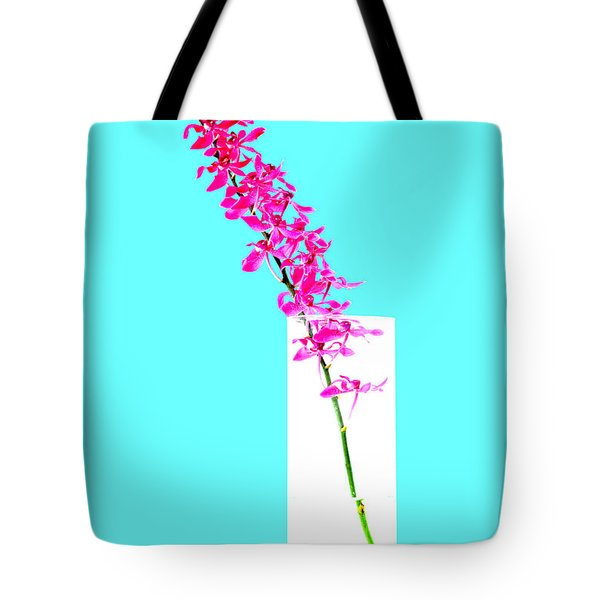 Red Orchid Bunch Tote Bag by Atiketta Sangasaeng
