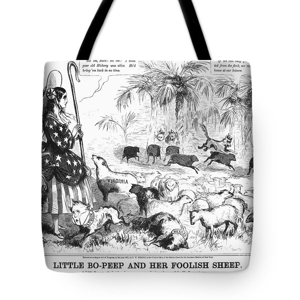 Secession Cartoon, 1861 Tote Bag by Granger