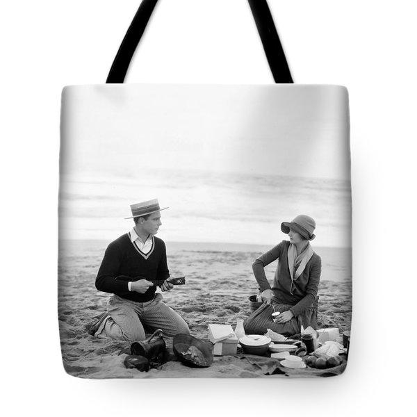 Silent Film Still: Picnic Tote Bag by Granger