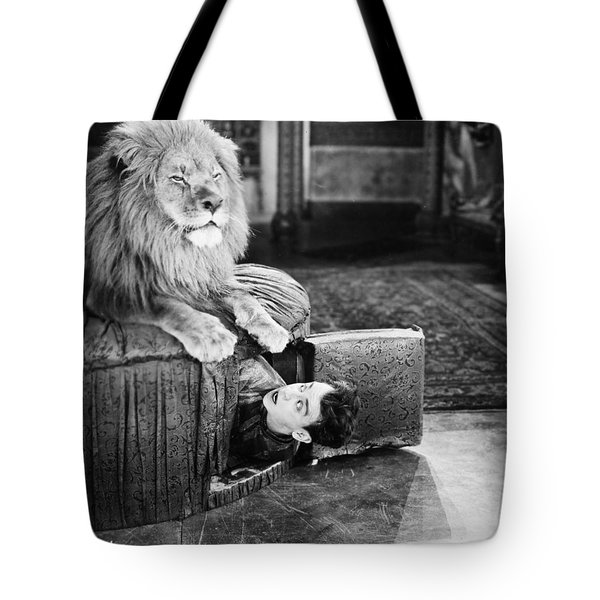 Silent Still: Man In Distress Tote Bag by Granger