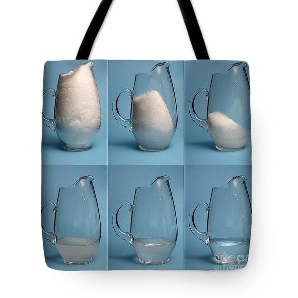 Snow Melting Tote Bag by Ted Kinsman