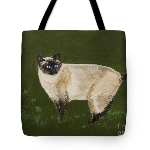 Sweetest Siamese Tote Bag by Leslie Allen