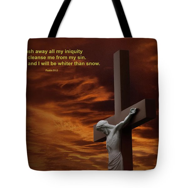 The Cross Tote Bag by David Arment