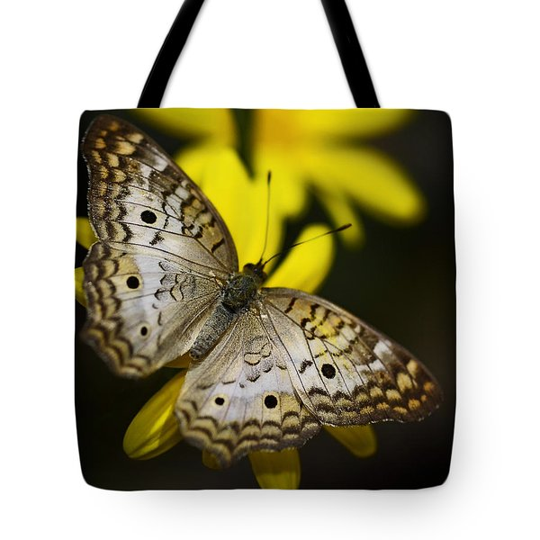 White Peacock Butterfly  Tote Bag by Saija  Lehtonen