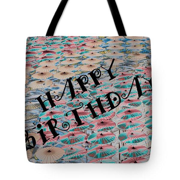 World Of Umbrellas Tote Bag by Trish Tritz