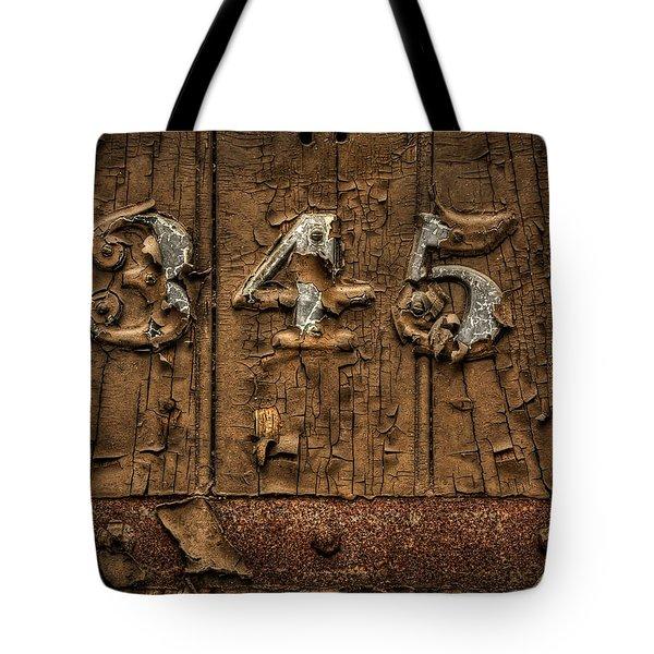 345 Tote Bag
