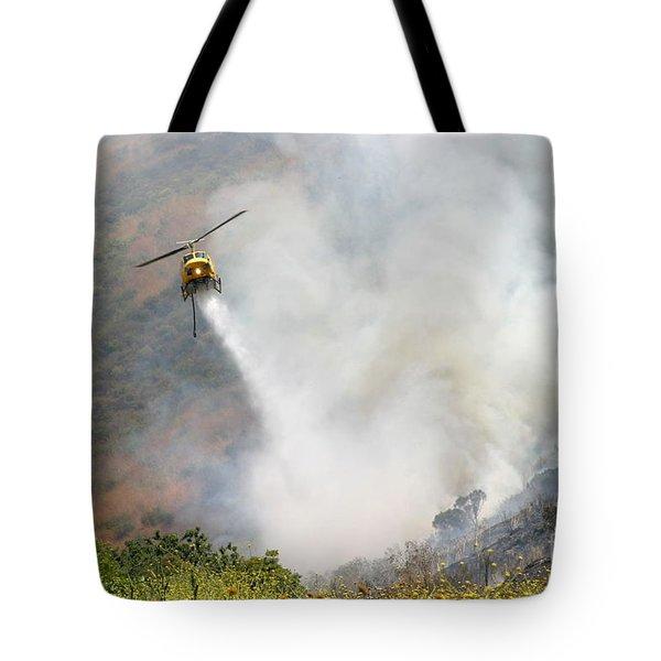 Barnett Fire Tote Bag by Henrik Lehnerer