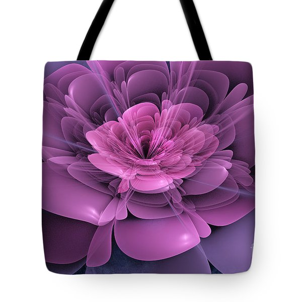 3d Flower Tote Bag by John Edwards