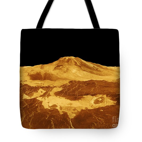 3d Perspective View Of Maat Mons Tote Bag by Stocktrek Images