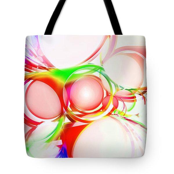 Abstract Of Circle  Tote Bag by Setsiri Silapasuwanchai