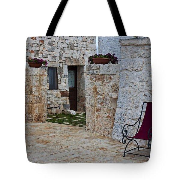 Alberobello - Apulia Tote Bag by Joana Kruse