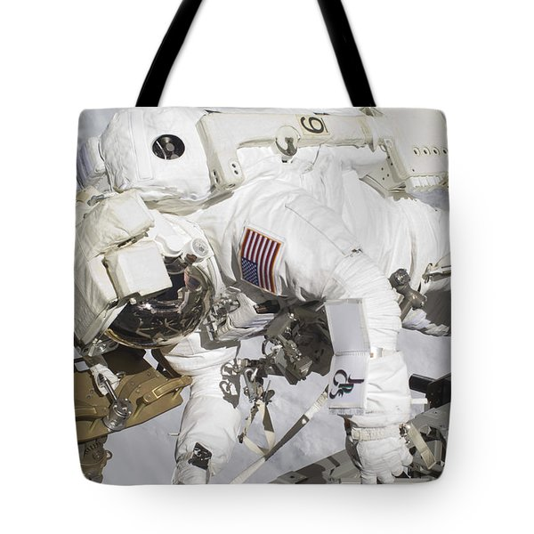 An Astronaut Participates In A Session Tote Bag by Stocktrek Images