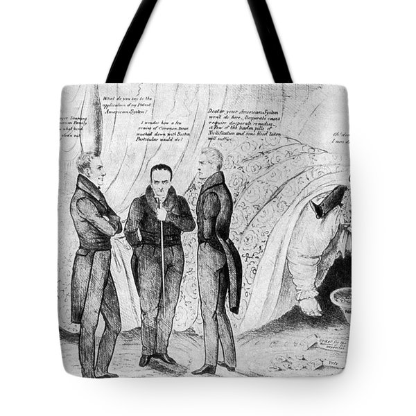 Andrew Jackson Cartoon Tote Bag by Granger